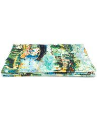 Off-White c/o Virgil Abloh Impressionist Print Towel - Green