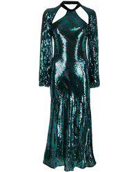 RIXO London Celia スパンコール ドレス - ブルー