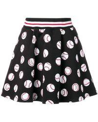 Love Moschino - Black Printed Skirt - Lyst