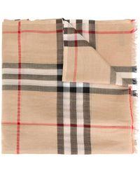 Burberry Metallic Check Silk And Wool Scarf - Meerkleurig
