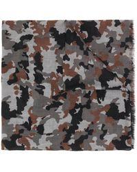Z Zegna Camouflage Print Scarf - Gray