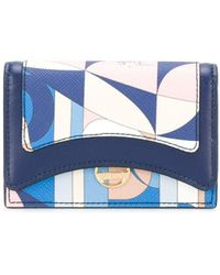 Emilio Pucci Abstract Print Cardholder - Blue