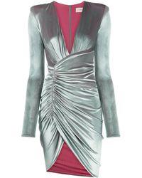 Alexandre Vauthier ベルベット ラップドレス - マルチカラー