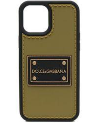 Dolce & Gabbana Logo Patch Iphone 12 Pro Max Case - Green