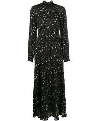 IRO Длинное Платье С Цветочным Принтом - Черный