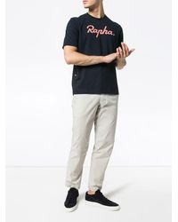 Rapha T-Shirt mit Logo-Print - Blau