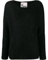 8pm リブニット セーター - ブラック