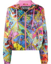Versace Jeans Couture - Paisley Fantasy フーデッドジャケット - Lyst