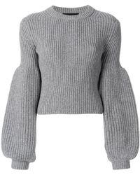 Alexander Wang | Puff Sleeve Knit Jumper | Lyst