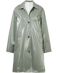 Song For The Mute - Wet Look Printed Coat - Lyst