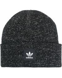 adidas ロゴパッチ ビーニー - ブラック