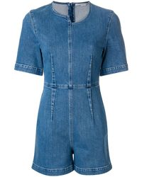 Stella McCartney Tuta denim corta - Blu