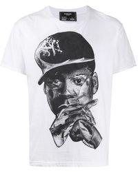 DOMREBEL プリント Tシャツ - ホワイト