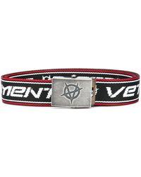 Vetements Cinturón con logo bordado - Negro