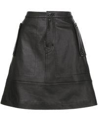PROENZA SCHOULER WHITE LABEL レザー スカート - ブラック