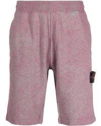 Stone Island - Shorts sportivi con applicazione - Lyst