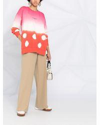 Stella McCartney Толстовка Оверсайз С Принтом Тай-дай И Эффектом Градиента - Розовый
