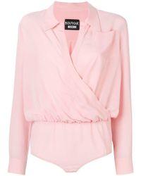 Boutique Moschino Chest Pocket Bodysuit - Pink