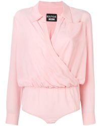 Boutique Moschino - Chest Pocket Bodysuit - Lyst