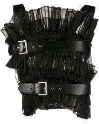 Comme des Garçons Micro-pleated Harness Vest - Black