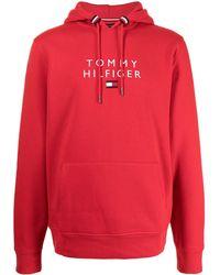Tommy Hilfiger ロゴ パーカー - レッド