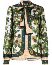Dolce & Gabbana Блузка С Цветочным Принтом - Многоцветный