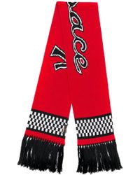Versace Team logo knit scarf - Rouge