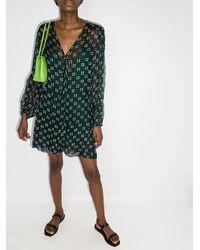 Cloe Cassandro Lea Spot-print Mini Dress - Green