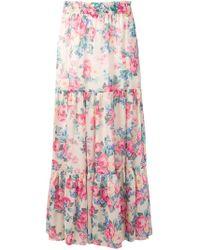 Twin Set - Floral Print Maxi Skirt - Lyst