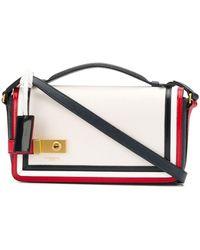 Thom Browne Rwb-detail Cross-body Bag - White