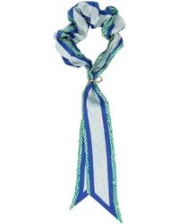 Chloé Ribbon-detail Scrunchie Hair Tie - Blue
