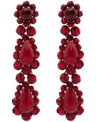 Simone Rocha 'Red Blood Red' Ohrringe mit Kristallen - Rot