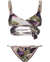 Adriana Degreas - Set bikini a portafoglio con stampa - Lyst