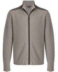 James Perse Felted Zipped Jumper - Grey