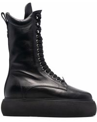 The Attico プラットフォームソール ブーツ - ブラック