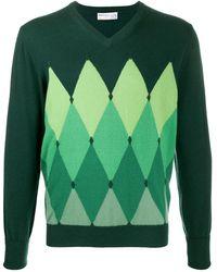 Ballantyne アーガイル セーター - グリーン