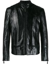 Philipp Plein Biker Jacket - Black