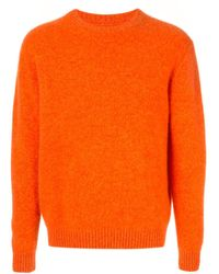 Coohem Crewneck Cashmere Jumper - Orange