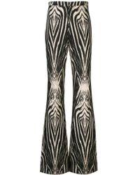 Christian Siriano Schlaghose mit Zebra-Print - Schwarz