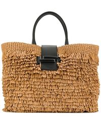 Tod's Fringed Straw Tote - Multicolor