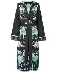 Yuliya Magdych Dayspring Horse Embroidered Coat - Gray