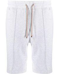 Brunello Cucinelli Drawstring-waist Bermuda Shorts - Brown
