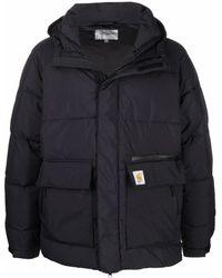 Carhartt WIP ロゴパッチ パデッドジャケット - ブラック