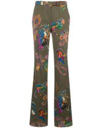 Etro - Animal Print Trousers - Lyst