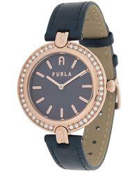 Furla Logo Links 34mm Watch - Metallic