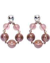 Carolina Herrera Crystal-embellished Bead Drop Earrings - Multicolour