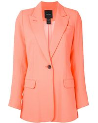 Smythe Longline Tailored Blazer - Orange