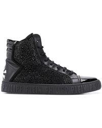 Philipp Plein Embellished hi-top sneakers - Schwarz
