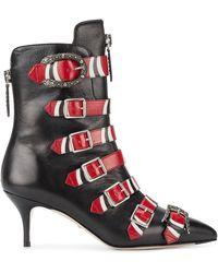 Gucci マルチバックルブーツ - ブラック