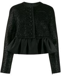 Rochas Ruffle-trim Embellished Jacket - Black